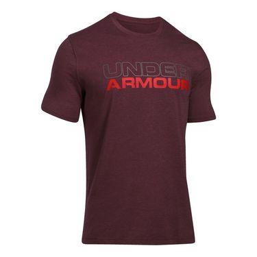 Under Armour Wordmark Tee - Raisin Red Medium Heather/Graphite/Red