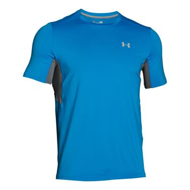 Under Armour Coolswitch Run Crew - Electric Blue/ Graphite