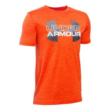 Under Armour Boys Big Logo Hybrid Tee - Volcano