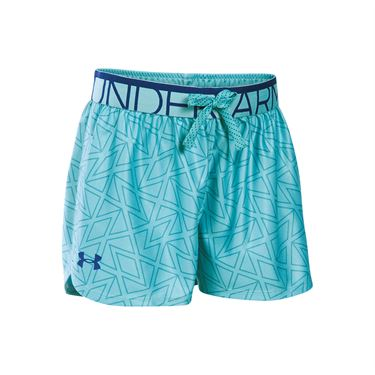 Under Armour Girls Printed Play Up Short - Cosmos Blue