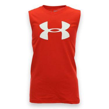 Under Armour Boys Big Logo Sleeveless Shirt - Risk Red