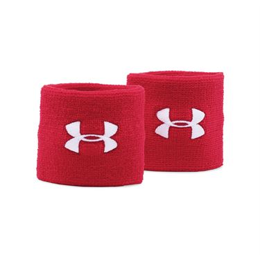 Under Armour Performance Wristbands - Red/White
