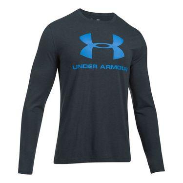 Under Armour Sportstyle Longsleeve Shirt - Anthracite Medium Heather/Mako Blue