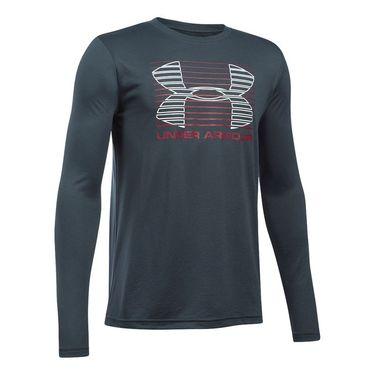 Under Armour Boys Breakthrough Logo Long Sleeve Tee - Stealth Grey