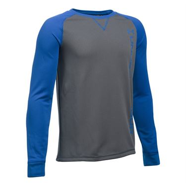 Under Armour Boys Waffle Crew - Graphite