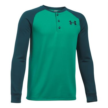 Under Armour Boys Waffle Henley - Geode Green