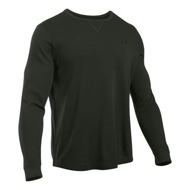 Under Armour Waffle Long Sleeve Crew - Artillery Green