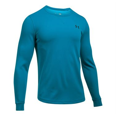 Under Armour Waffle Long Sleeve Crew - Bayou Blue