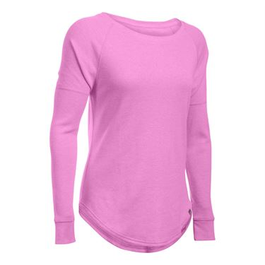 Under Armour Waffle Raglan Long Sleeve Top - Verve Violet
