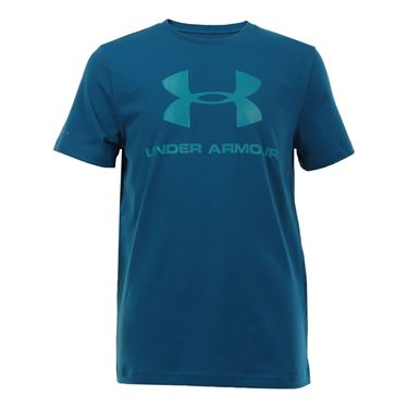 Under Armour Boys Sportstyle Logo Tee - Peacock Blue