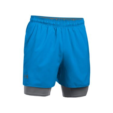 Under Armour Qualifier 2 In 1 Short - Mako Blue/Graphite