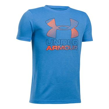 Under Armour Boys Big Logo Hybrid 2.0 Tee - Mako Blue