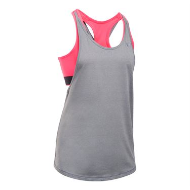 Under Armour 2 In 1 Tank - True Grey