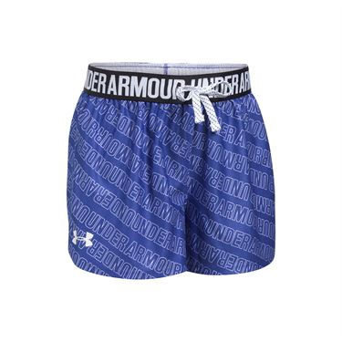 Under Armour Girls Printed Play Up Short - Constellation Purple