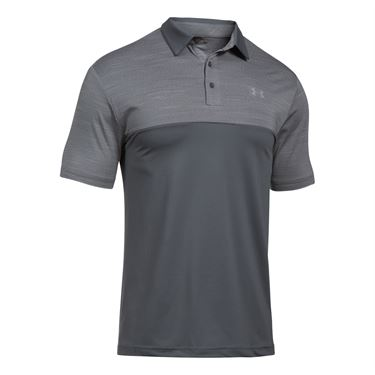 Under Armour Blocked Playoff Polo - Rhino Grey