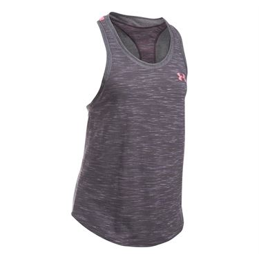 Under Armour Mesh Wordmark Tank - Carbon Heather