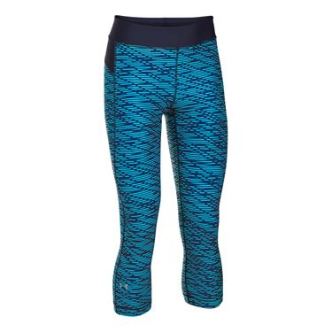 Under Armour Heat Gear Printed Capri - Island Blues/Midnight Navy