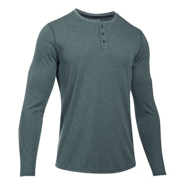 Under Armour Threadborne Knit Henley - Arden Green