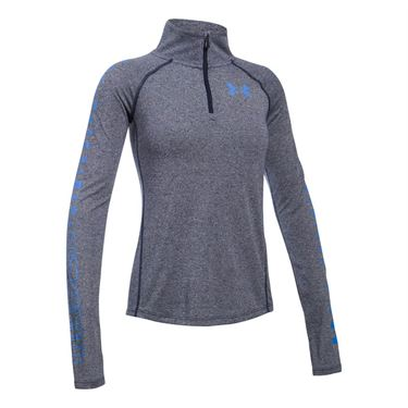 Under Armour Girls Threadborne 1/4 Zip - Midnight Navy/Mako Blue