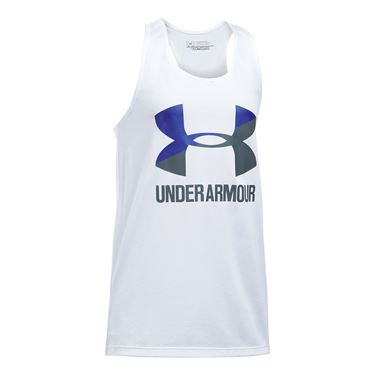 Under Armour Girls Big Logo Tank - White
