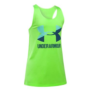 Under Armour Girls Big Logo Tank - Quirky Lime