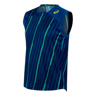 Asics Athlete Sleeveless Top - Airforce Volley Stripe