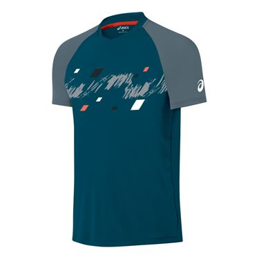 Asics Club Graphic Short Sleeve Top- Ink Blue