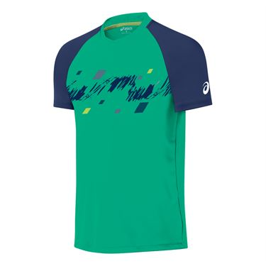 Asics Club Graphic Short Sleeve Top- Peacock Green