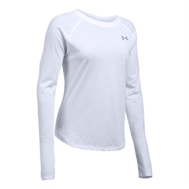 Under Armour Tri Blend Long Sleeve Top - White