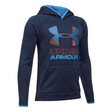 Under Armour Boys AF Solid Big Logo Hoodie - Midnight Navy
