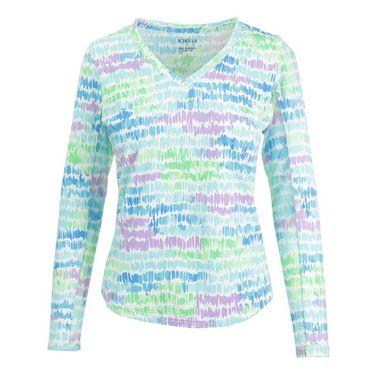 Icikuls Monet Long Sleeve V Neck - Turquoise