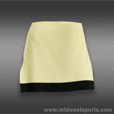 Eliza Audley Color the Court Slit Band Skirt-Citrine