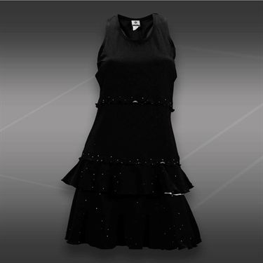 Eliza Audley Laser Points Match Point Dress-Black