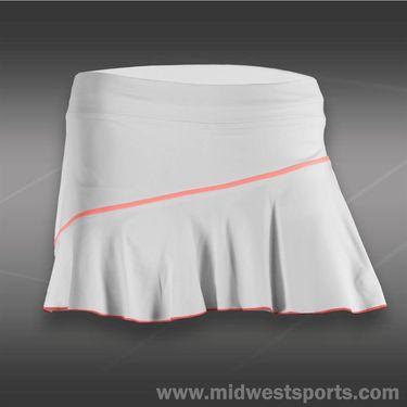 Sofibella Navigate 13 Inch Skirt-White/Sorbet