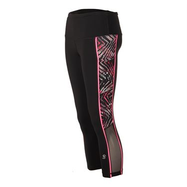 Sofibella Dark Night Supplex Capri - Black/Magic Print