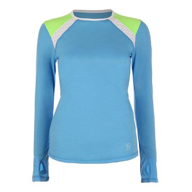 Sofibella Triumph Long Sleeve Top - Sky Blue Melange