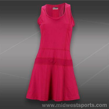 Lija Balance Panel Dress-Raspberry