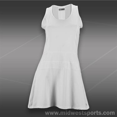 Lija Balance Panel Dress-White