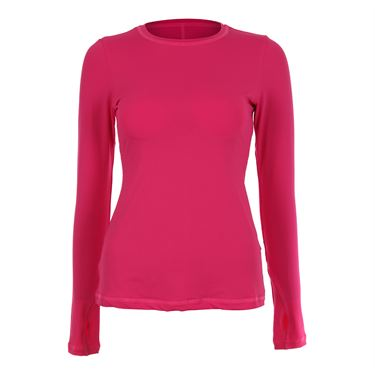Sofibella Tulum Plus Size Long Sleeve Top - Magenta