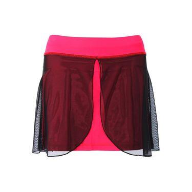 Sofibella Red Lotus 15 Inch Skirt Plus Size - Red Lotus