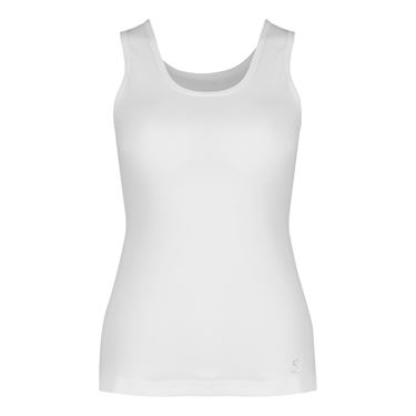 Sofibella Love Basic Athletic Tank - White