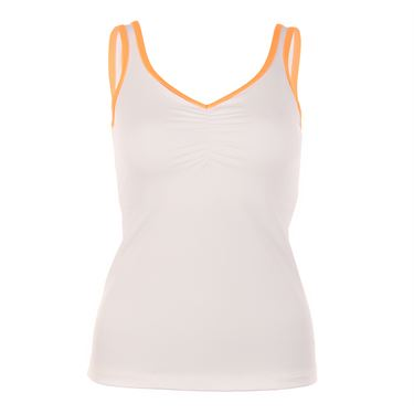 Sofibella Belize Athletic Sweetheart Cami - White/Paperino