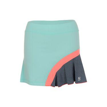 Sofibella Fiji Plus Size 15 Inch Skirt -  Frosted Aqua/Fiji Night