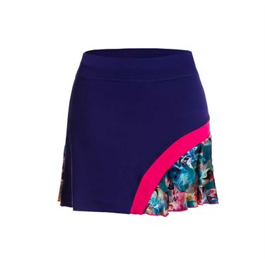 Sofibella Aruba Plus Size 15 Inch Skirt - Indigo/Carnaval