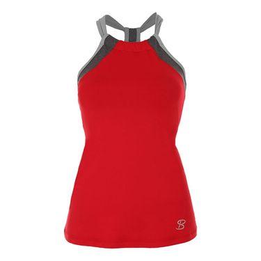 Sofibella Conquest Athletic Halter Top - Red