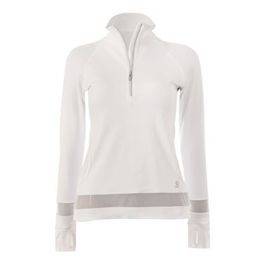 Sofibella White Lily 1/2 Zip Top - White