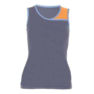 Sofibella Belize Classic Sleeveless Top Plus Size - Romantic Blue/Paperino