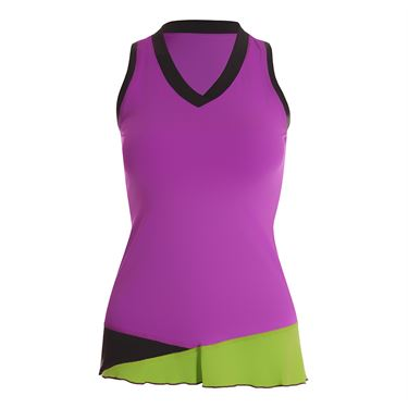 Sofibella Bali Full Back Athletic Tank - Amethyst