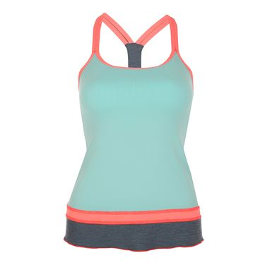 Sofibella Fiji Athletic Cami - Frosted Aqua/Sorbet