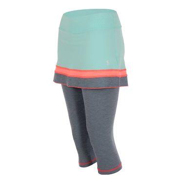 Sofibella Fiji Plus Size Abaza Skirt - Aqua/Fiji Night